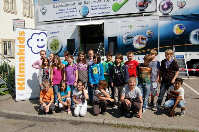 Klimakids und Expeditionsmobil in Backnang